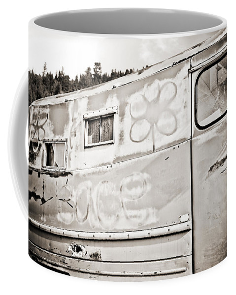 Americana Coffee Mug featuring the photograph Old Hippie Peace Van by Marilyn Hunt