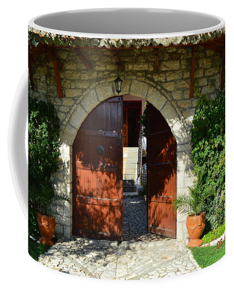 Coffee Mug featuring the photograph Old House Door by Nuri Osmani