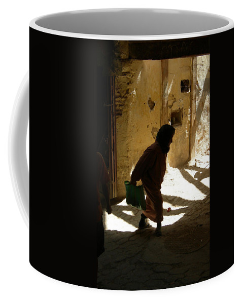 Morocco Coffee Mug featuring the photograph Old Lady Tangier. by Fay Lawrence