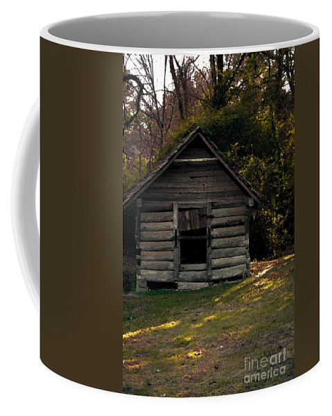 Log Cabin Coffee Mug featuring the photograph Old Log Cabin by Kim Henderson