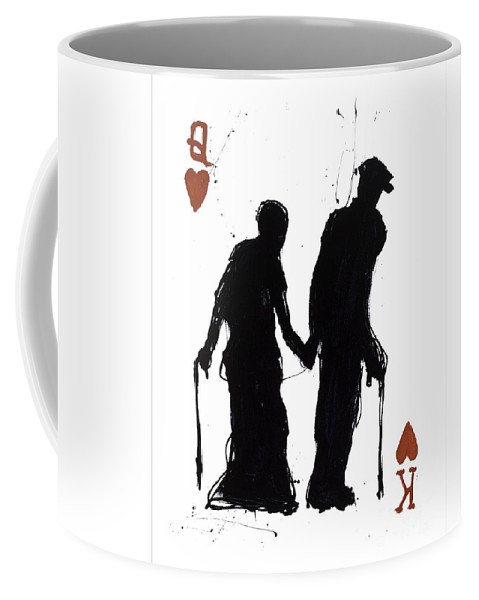 Popheart Coffee Mug featuring the painting Old Love by Mark Hanham