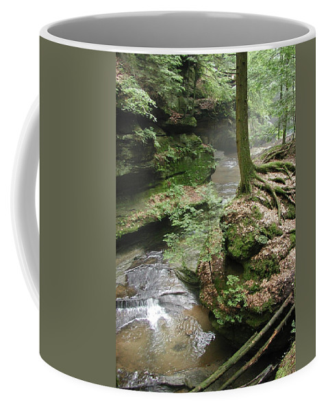 Rock Coffee Mug featuring the photograph Old Man's Cave by Rhoda Gerig