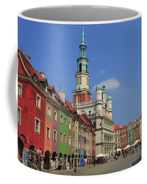 Architecture Coffee Mug featuring the photograph Old Marketplace And The Town Hall Poznan Poland by Ivan Pendjakov
