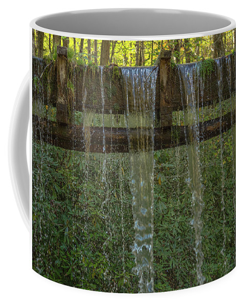 North Carolina Coffee Mug featuring the photograph Old Mingus Mill by Peggy Blackwell