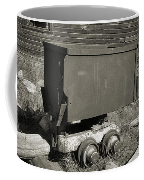 Ore Cart Coffee Mug featuring the photograph Old Mining Cart by Richard Rizzo