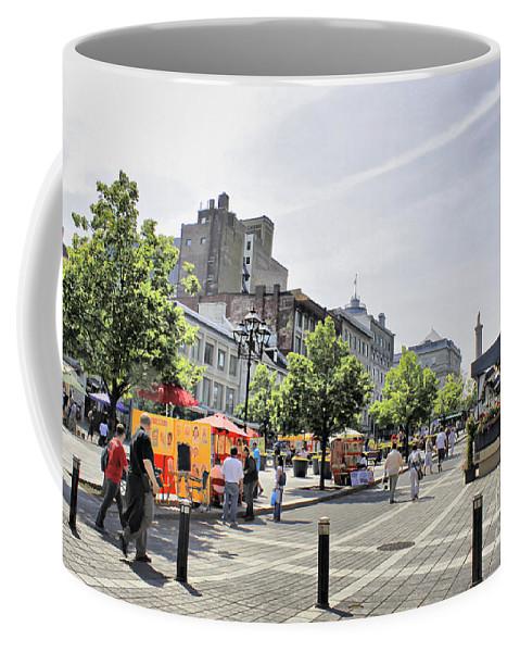 Montreal Coffee Mug featuring the photograph Old Montreal June 2010 by Deborah Benoit