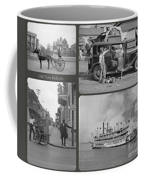 Old New Orleans Coffee Mug featuring the painting Old New Orleans by John Malone