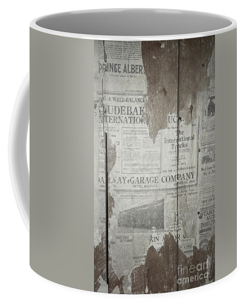 Newspapers Coffee Mug featuring the photograph Old News by Richard Rizzo