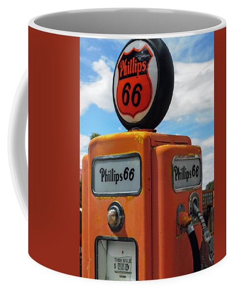 Old Phillips 66 Gas Pump Coffee Mug featuring the photograph Old Phillips 66 Gas Pump by Tikvah's Hope