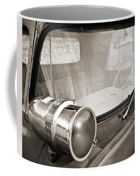 Americana Coffee Mug featuring the photograph Old Police Car Siren by Marilyn Hunt