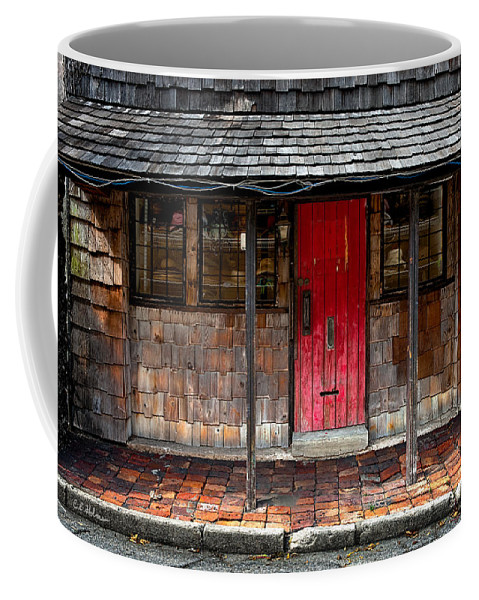 Door Coffee Mug featuring the photograph Old Red Door by Christopher Holmes