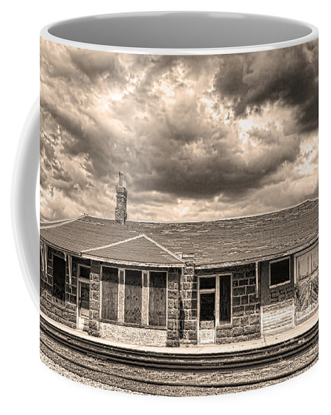 Old Coffee Mug featuring the photograph Old Rio Grande Train Stop by James BO Insogna