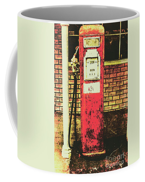 Petrol Coffee Mug featuring the photograph Old Roadhouse Gas Station by Jorgo Photography - Wall Art Gallery