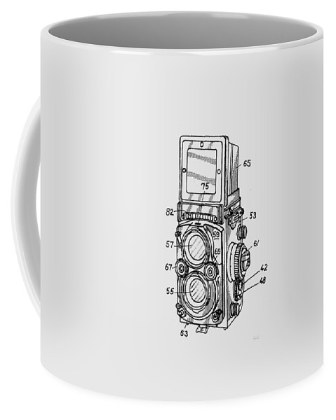 Camera Coffee Mug featuring the digital art Old Rollie Vintage Camera T-shirt by Edward Fielding