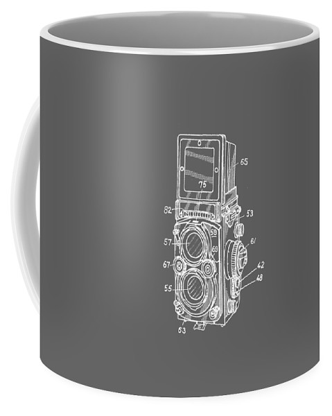 Camera Coffee Mug featuring the photograph Old Rollie Vintage Camera White T-shirt by Edward Fielding