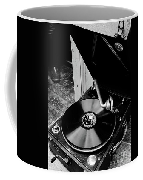 Random Images By Lexa Harpell Coffee Mug featuring the photograph Old School Listening by Lexa Harpell