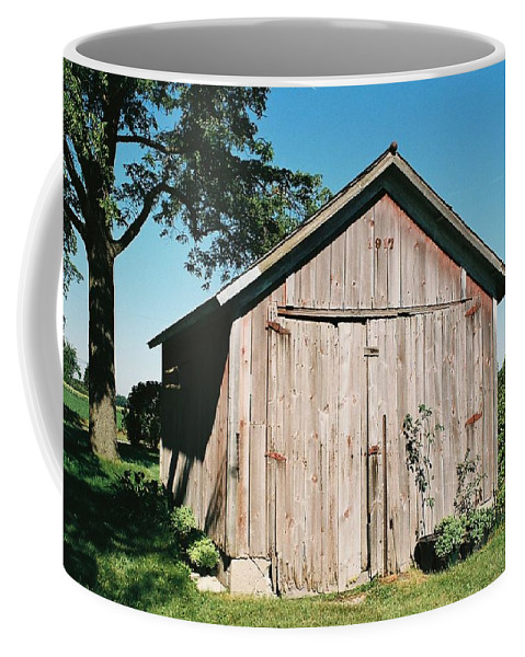 Shed Coffee Mug featuring the photograph Old Shed by Lauri Novak