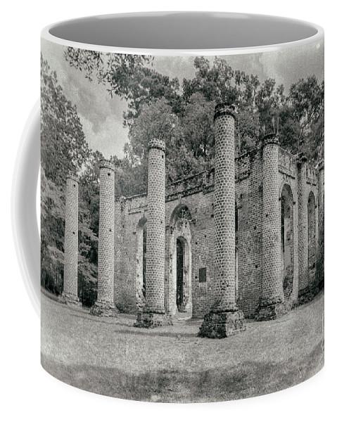 Old Sheldon Church Coffee Mug featuring the photograph Old Sheldon Church Ruins, South Carolina by Dawna Moore Photography