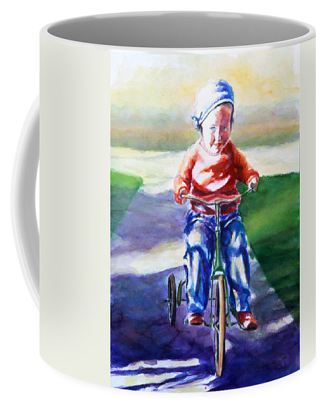 Girl Coffee Mug featuring the painting Old Soul by Shannon Grissom
