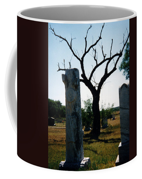Stones Trees Old Headstones Coffee Mug featuring the photograph Old Stones In Old Cementery by Cindy New