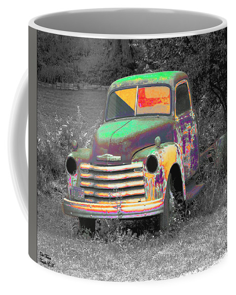 Car Coffee Mug featuring the digital art Old Timer by Robert Meanor