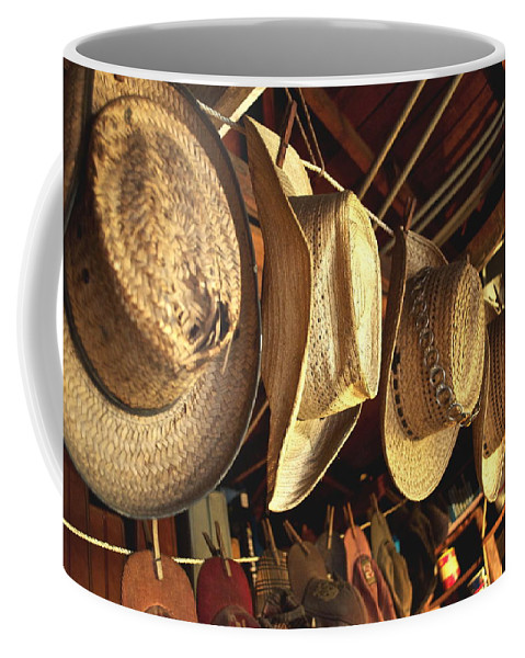 Hat Coffee Mug featuring the photograph Old Timer's Garage 2 by Gwyn Newcombe