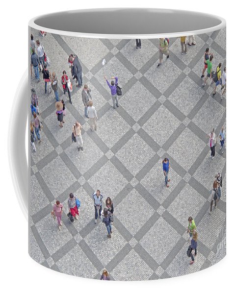 Old Town Square Coffee Mug featuring the photograph Old Town Square - Prague by Ann Horn