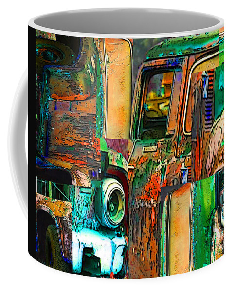 Old Truck Coffee Mug featuring the photograph Old Trucks by Robert Meanor