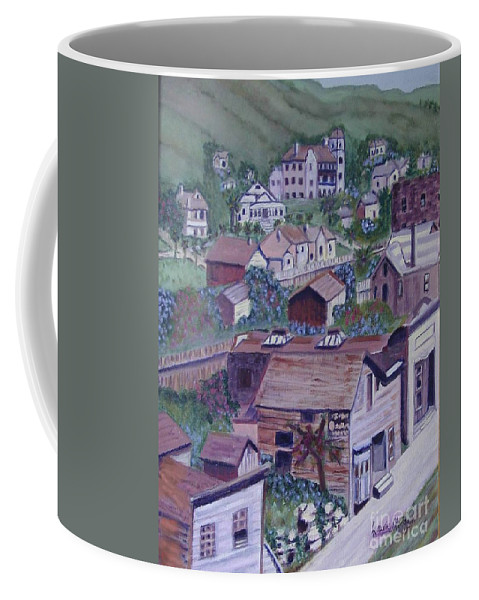 Ventura Coffee Mug featuring the painting Old Ventura by Laurie Morgan