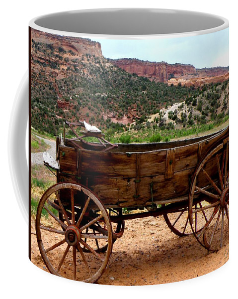 Old Wagon Coffee Mug featuring the photograph Old Wagon by George Tuffy