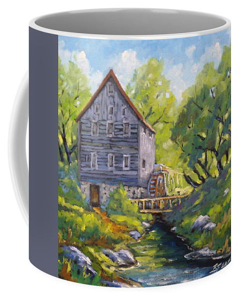 Art Coffee Mug featuring the painting Old Watermill by Richard T Pranke