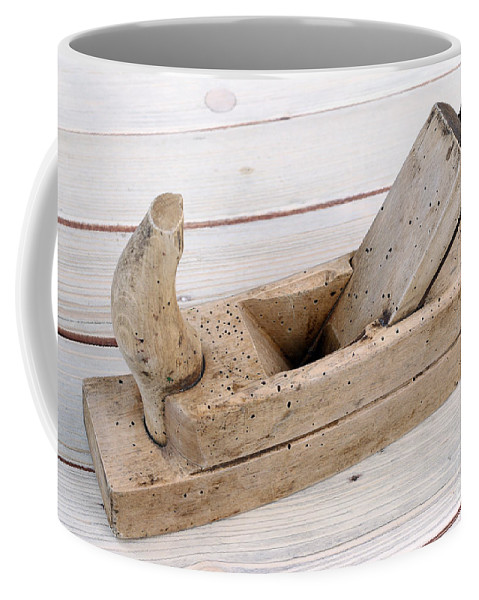 Plane Coffee Mug featuring the photograph Old Wood Planer by Michal Boubin