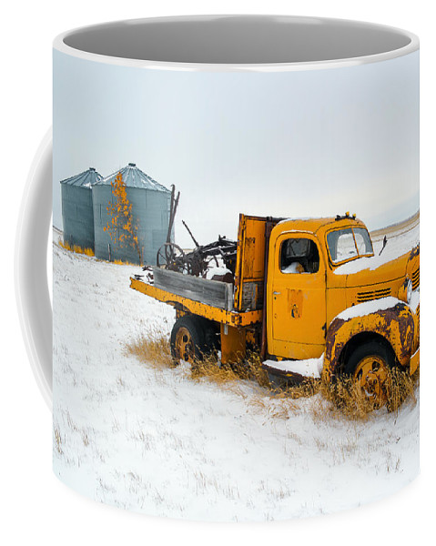 Yellow Coffee Mug featuring the photograph Old Yellow by Todd Klassy