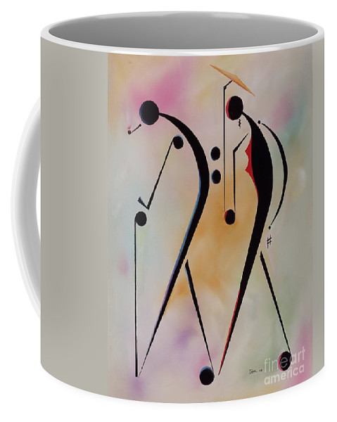 Elderly Coffee Mug featuring the painting Ole Folks by Ikahl Beckford