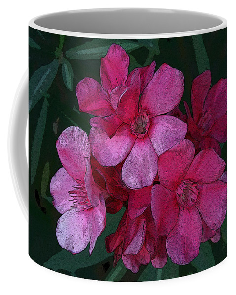 Digital Coffee Mug featuring the photograph Oleanders In Pink by Marna Edwards Flavell