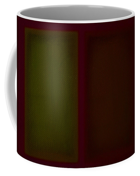 Rothko Coffee Mug featuring the painting Olive Red by Charles Stuart