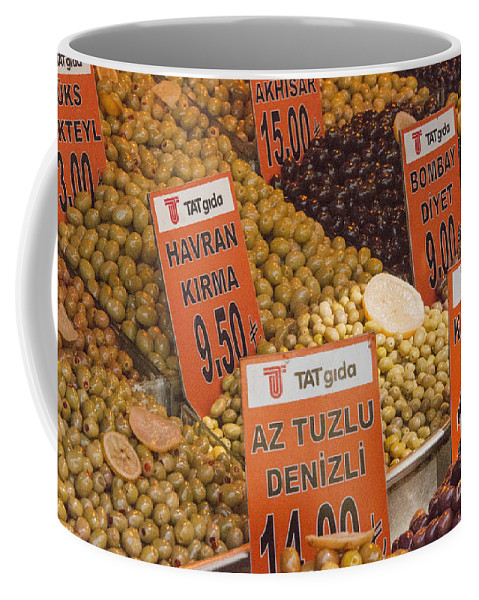 Spice Bazaar Coffee Mug featuring the photograph Olive Variety by Bob Phillips