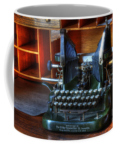 Typewriter Coffee Mug featuring the photograph Oliver Typewriter by Bob Christopher