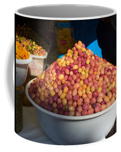 Photography Coffee Mug featuring the photograph Olives For Sale In Market, Essaouira by Panoramic Images