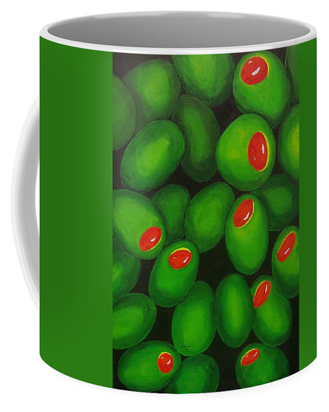 Olive Coffee Mug featuring the painting Olives by Micah Guenther