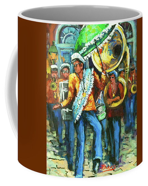 Olympia Coffee Mug featuring the painting Olympia Brass Band by Dianne Parks