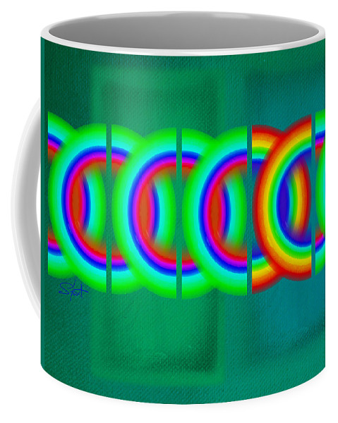 Abstract Coffee Mug featuring the painting Olympic Green by Charles Stuart