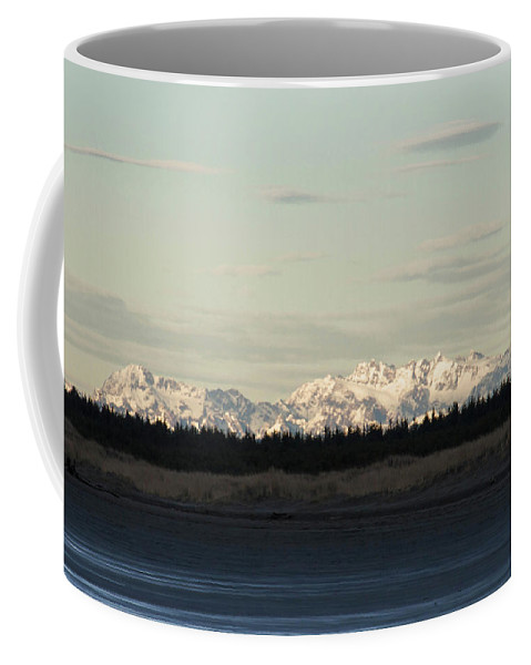 Olympic Mountains Coffee Mug featuring the photograph Olympic Mountains by Cheryl Day