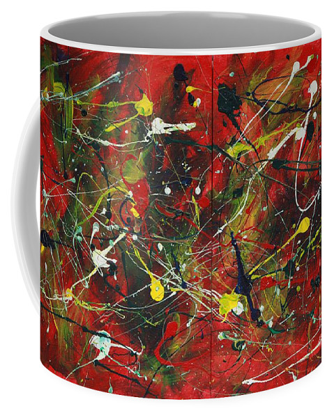 Splatter Coffee Mug featuring the painting On A High Note by Jacqueline Athmann