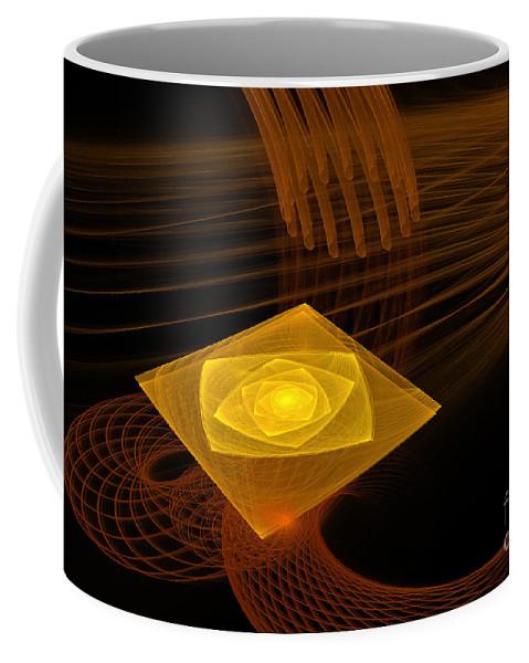 Digital Coffee Mug featuring the digital art On A Pedestal by Deborah Benoit
