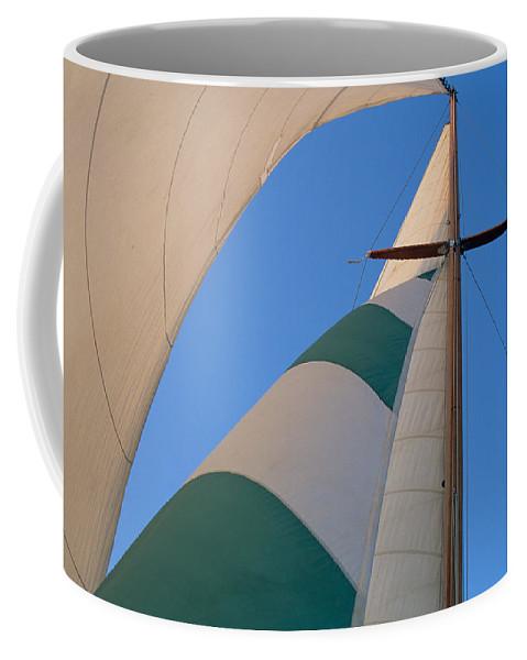 Nautical Coffee Mug featuring the photograph On A Reach by John Harmon