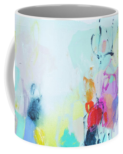 Abstract Coffee Mug featuring the painting On A Road Less Travelled by Claire Desjardins