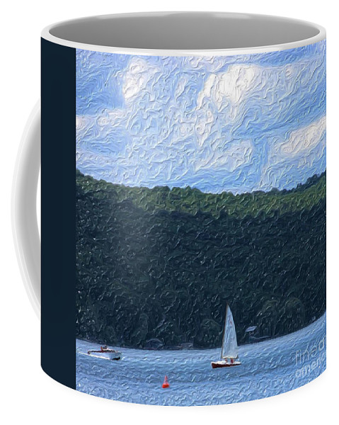 Landscape Coffee Mug featuring the photograph On Cayuga Lake by David Lane