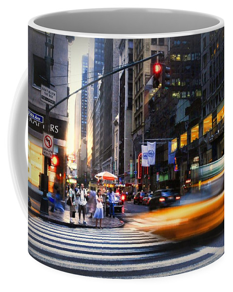 New York City Coffee Mug featuring the photograph On Fifth by Diana Angstadt