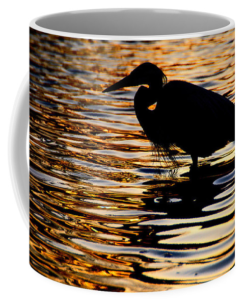 Birds Coffee Mug featuring the photograph On Golden Pond by Neil Shapiro